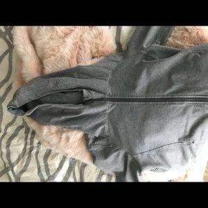 Gray lululemon zip up, size 10